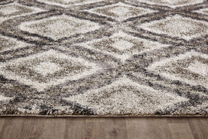 Capri Madison Bone Grey And Stone Diamond Modern Rug