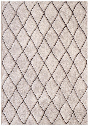 Capri Zuri Morrocan Diamand Rug Natural Brown