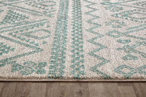 Capri Lara Natural And Soft Blue Rug