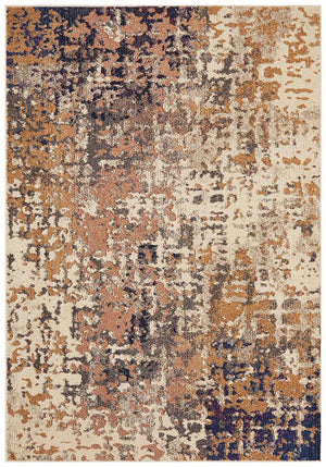 Crystal Sonia Contemporary Rug Rust Navy
