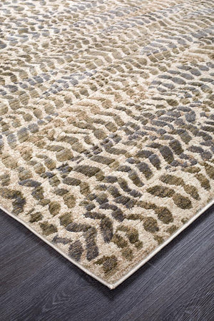Dreamscape Progress Modern Sage Runner Rug
