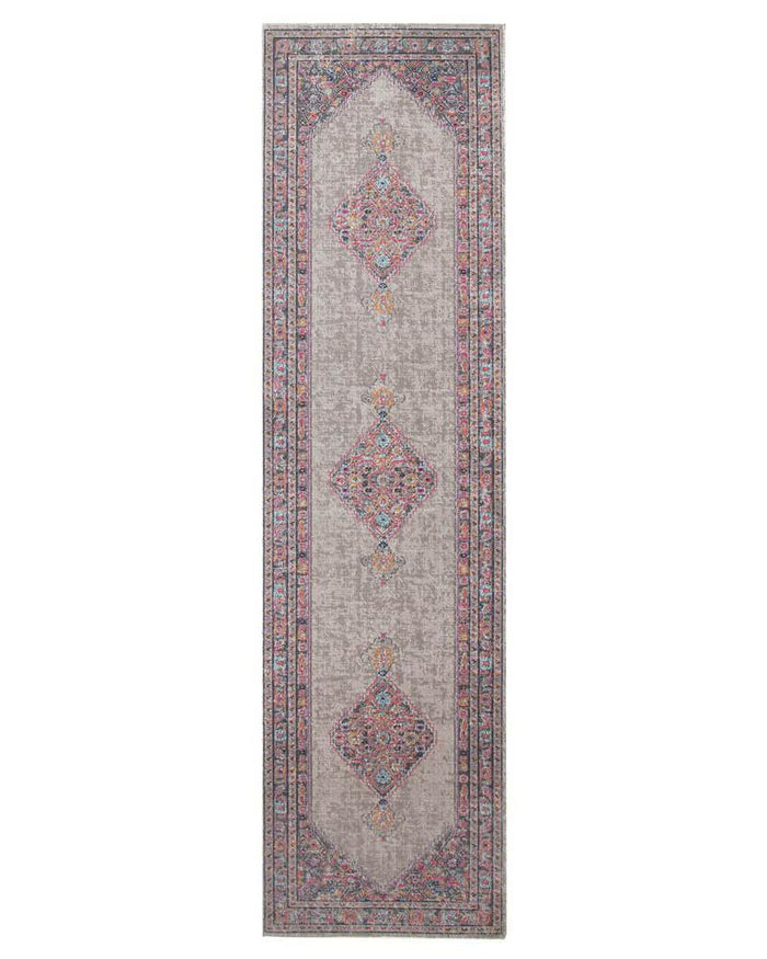 Eternal Whisper Diamond Grey Runner Rug