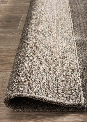 Havana Wool Silky Viscose Dark Natural Rug