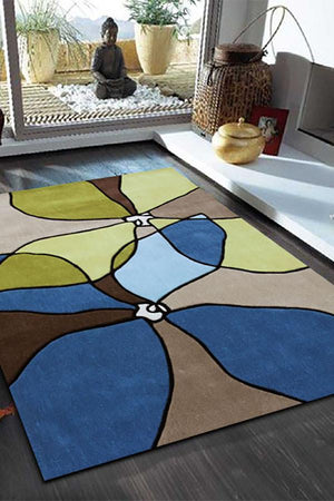 Gold Collection 618 Blue Rug