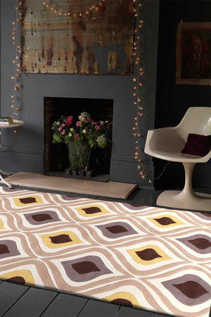 Gold Collection 629 Brown & Gold Rug