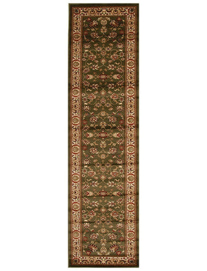 Istanbul Traditional Floral Pattern Runner Rug Green
