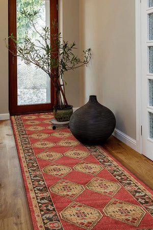 Jewel Shiraz Design 801 Red Runner Rug