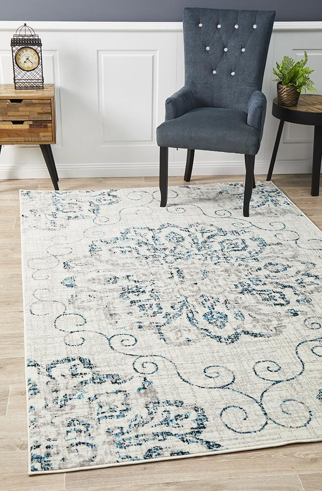 Giselle Transitional Rug Blue Grey
