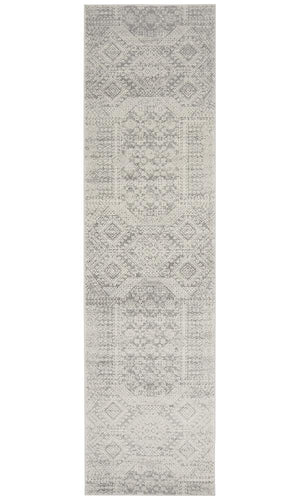Mirage Zelda Silver Grey Runner Rug