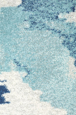 Mirage Lesley Whimsical Blue Runner Rug