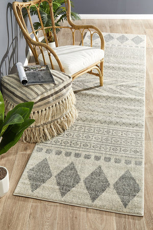 Mirage Adani  Modern Tribal Design Grey Runner Rug
