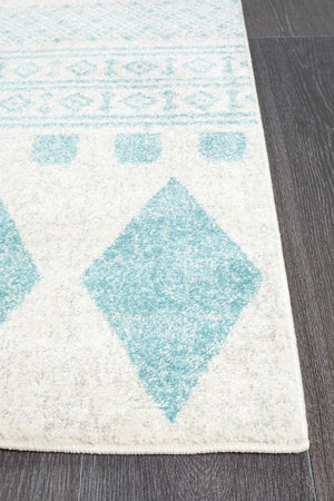 Mirage Adani Modern Tribal Design Sky Blue Rug