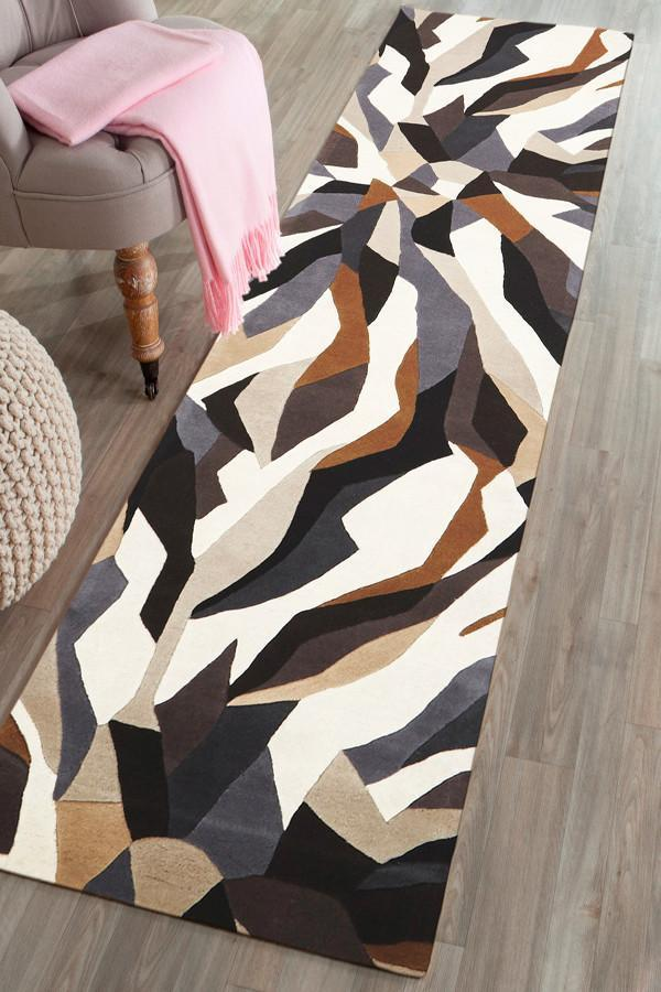 Matrix Pure Wool 903 Fossil Runner Rug