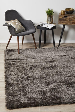 Oslo Shag Ash Brown Rug