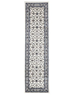 Sydney Classic Runner White With White Border Runner Rug