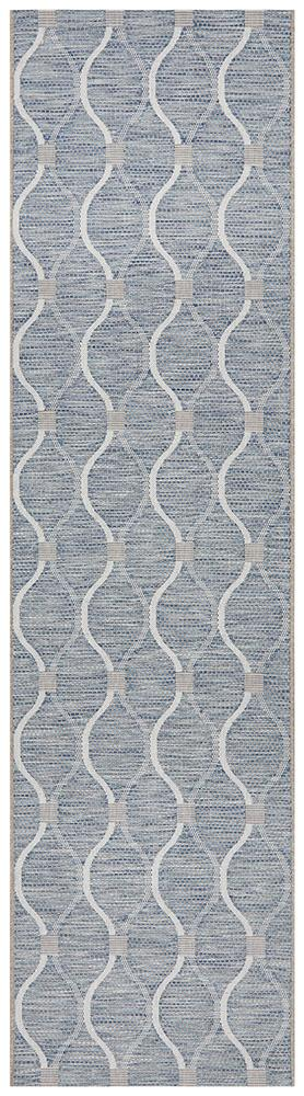 Rug Culture Terrace 5501 Blue Runner Rug