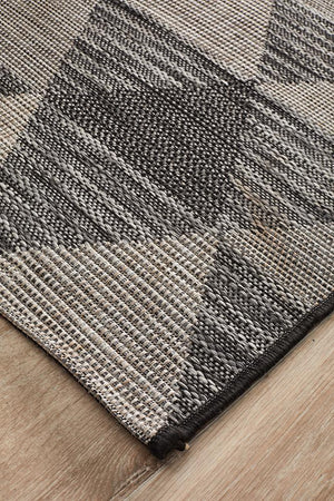 Rug Culture Terrace 5503 Black Runner Rug