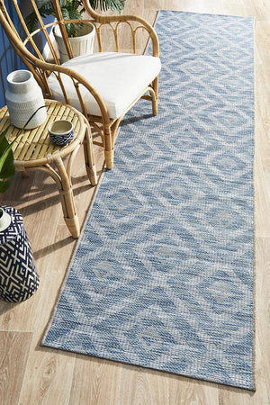 Rug Culture Terrace 5504 Blue Runner Rug