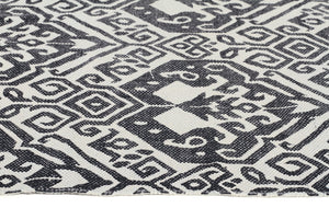 Zulu Totemic Tameless Black Rug