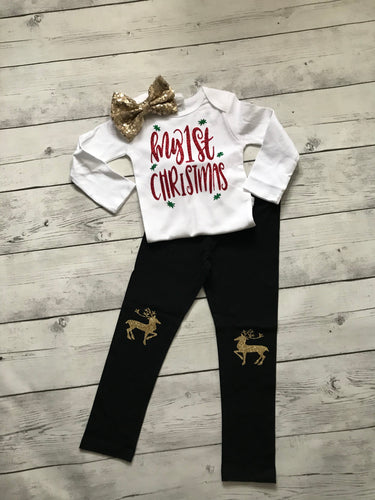 My First Christmas Outfit- 3pc set
