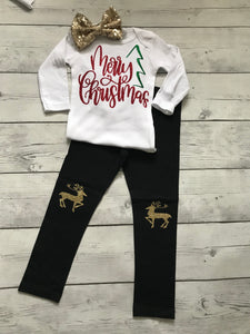 Christmas 3 pc outfit- Merry Christmas