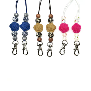 Funky Rose Mask Lanyards