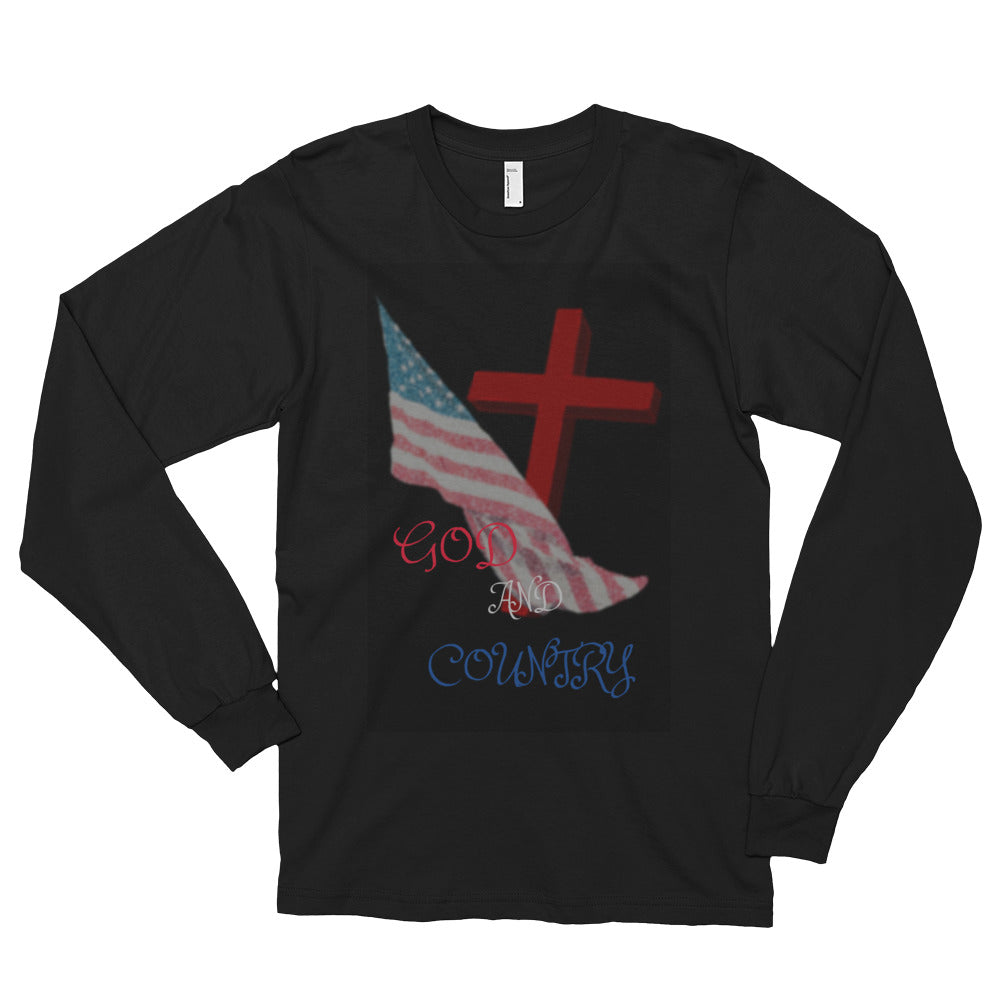 GOD And Country Long sleeve t-shirt