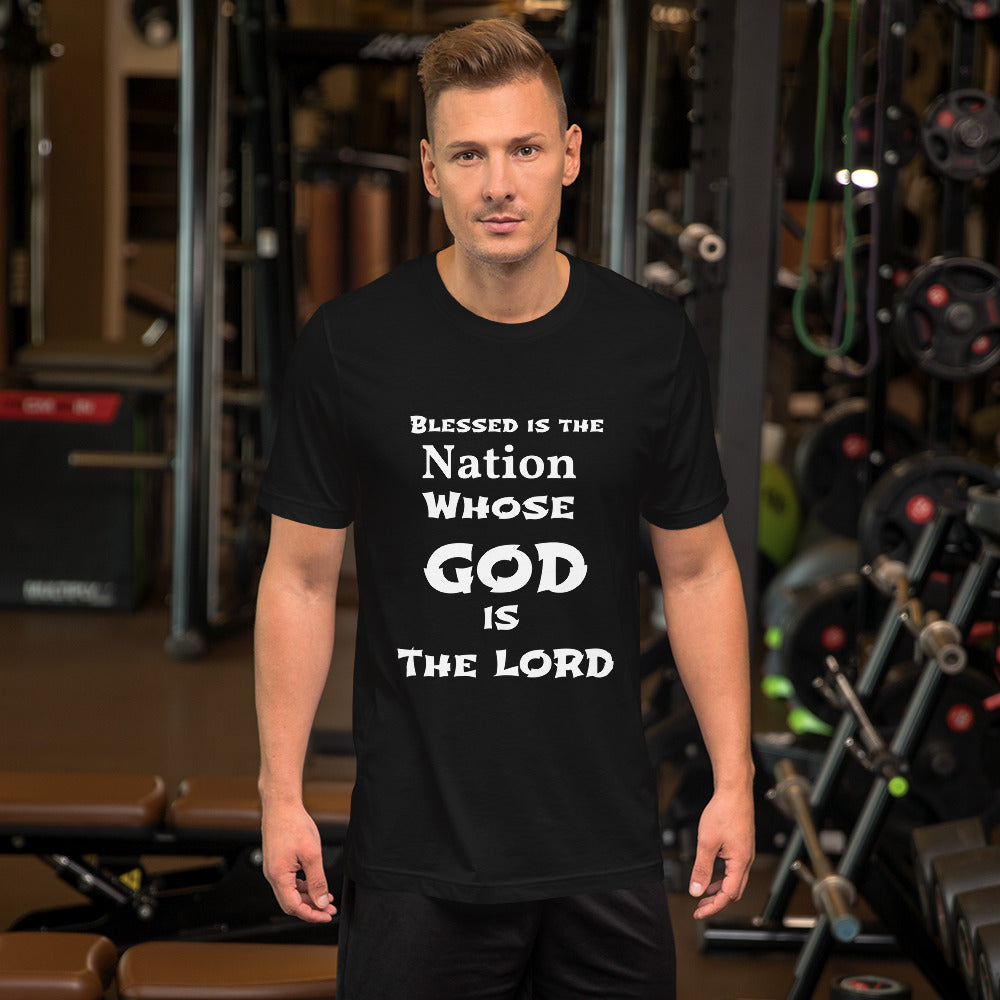 Blessed is the Nation Whose GOD is the LORD Short-Sleeve Unisex T-Shirt