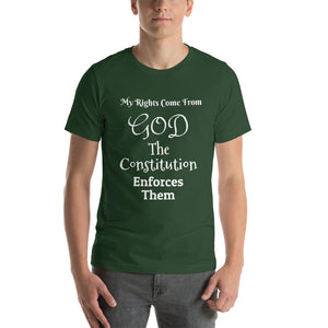My Rights Come From GOD Short-Sleeve Unisex T-Shirt