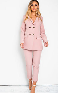 Talliah Tailored Suit Co-ord in Pink