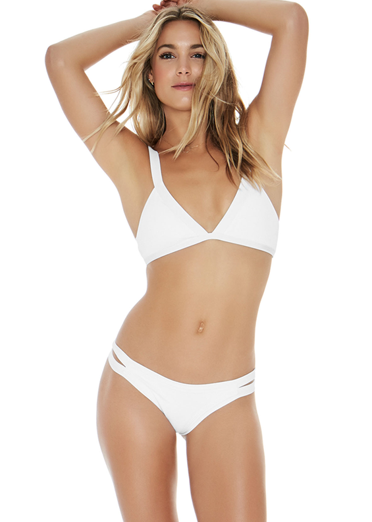 Deep plunge knot swimsuit