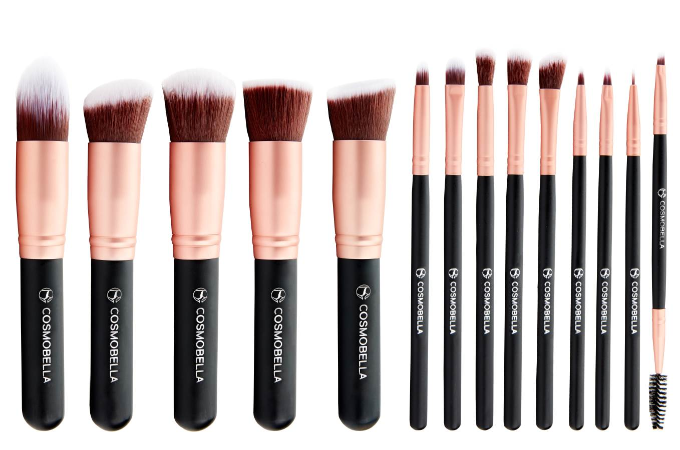 bb40b790bafa Cosmobella Beauty - Premium Kabuki Makeup Brush Set (14Pcs)