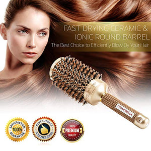 "Cosmobella Thermal Ceramic & Ionic Hair Brush (3.3"")"