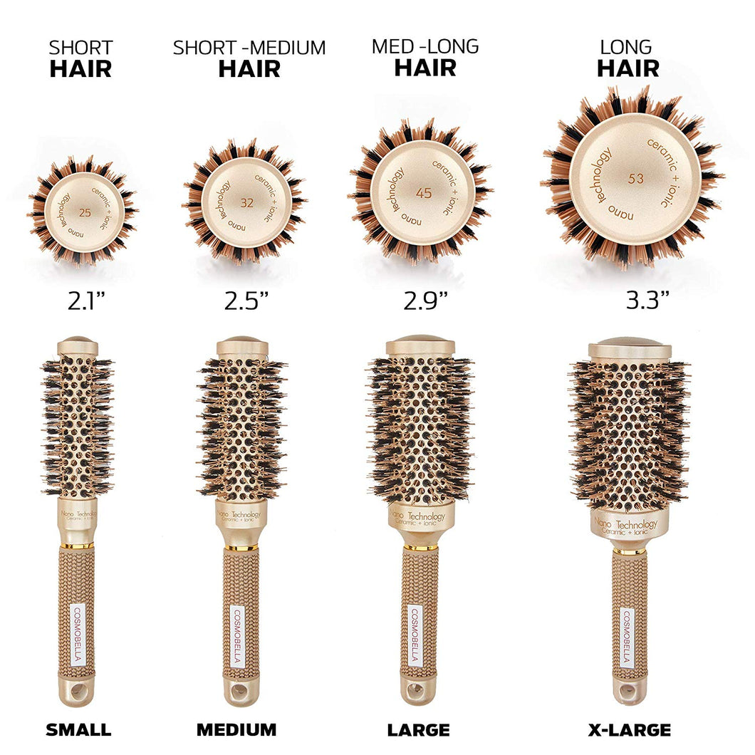 Cosmobella Thermal Ceramic & Ionic Hair Brush (3.3