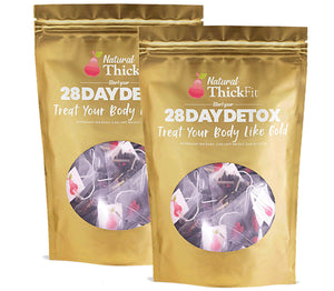 Natural ThickFit 28 Day Detox Wight Loss Tea Superfood Cleanse