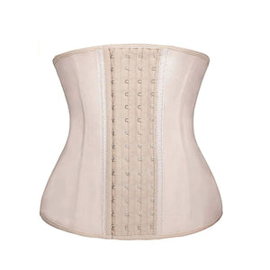 Nude Latex Corset 4 Hooks Cincher Slimming Hourglass Waist Trainer (Original Faja Colombiana)
