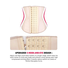 Load image into Gallery viewer, Nude Latex Corset 4 Hooks Cincher Slimming Hourglass Waist Trainer (Original Faja Colombiana)