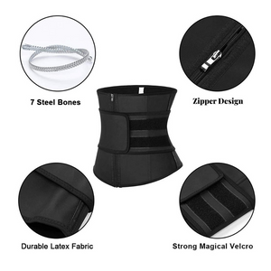 Sweat Waist Trainer Corset With Belt Waist Cincher Shaper