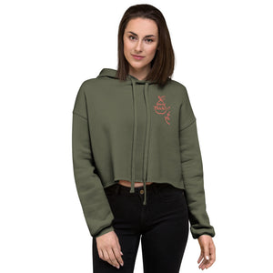 Essentials Fleece Crop Hoodie