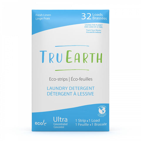TRU EARTH - Eco-strips Laundry Detergent (Fresh Linen) - 32 Loads