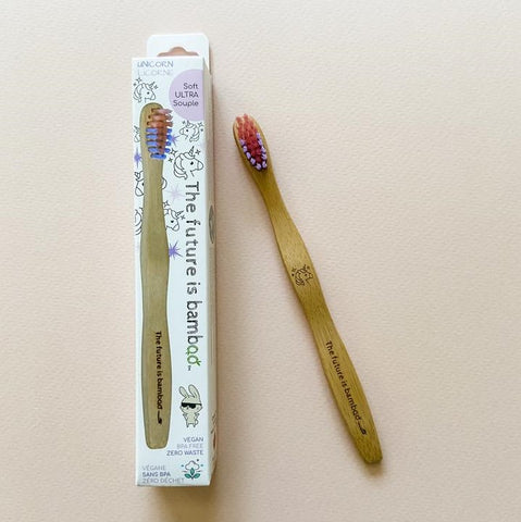 THE FUTURE IS BAMBOO - Unicorn Bamboo Toothbrush Kids