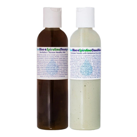 LIVING LIBATIONS - True Blue Spirulina Shampoo & Conditioner Duo