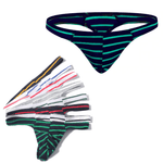 5 Pack Micro Striped Thong