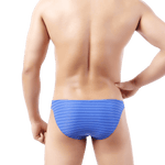 5 Pack Light Striped Bikini Bulge Briefs