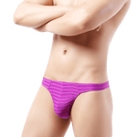 5 Pack Light Striped Thong