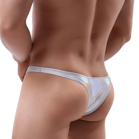 Metallic Triangle Thong