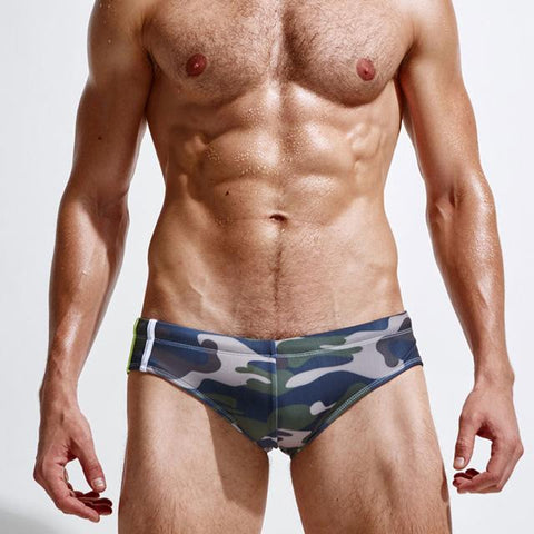 Camouflaged Swim Briefs