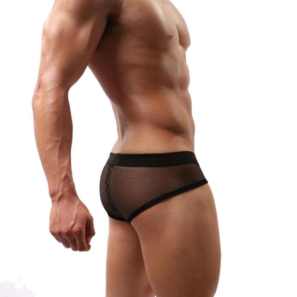 a554c6e0469a Sheer Mesh Underwear Briefs with Low-Rise Cut and Modern Design ...