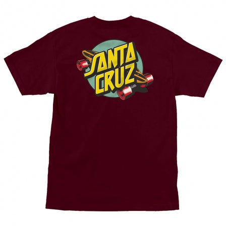 SANTA CRUZ Summer 76 Burgundy T-Shirt
