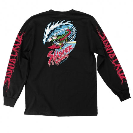 SANTA CRUZ Wave Slasher Long Sleeve Black T-Shirt